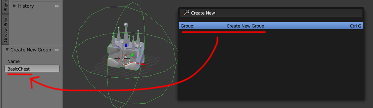 Grouping in blender.